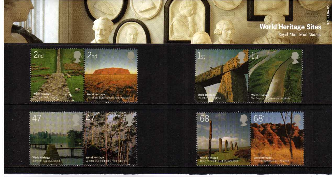 Stamp Image: view larger back view image for World Heritage Sites<br/><br/>