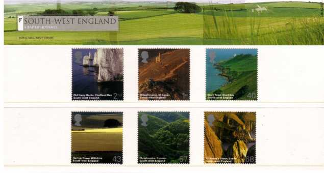 Stamp Image: view larger back view image for A British Journey - South West England<br/><br/>