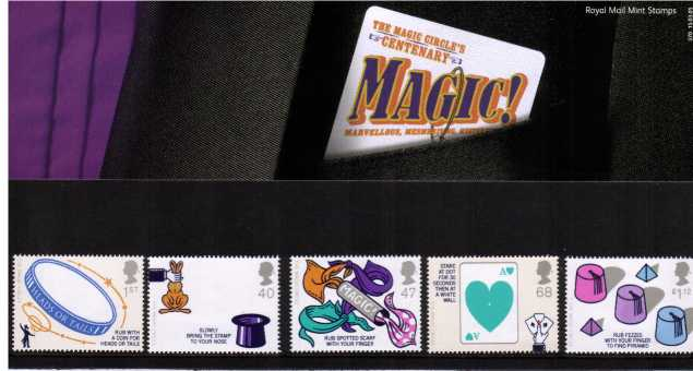 Stamp Image: view larger back view image for Centenary of the Magic Circle<br/><br/>