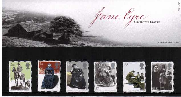 Stamp Image: view larger back view image for 150th Anniversary of Charlotte Bronte<br/><br/>