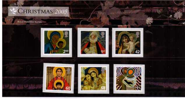 Stamp Image: view larger back view image for Christmas - Madonna and Child Paintings<br/><br/>