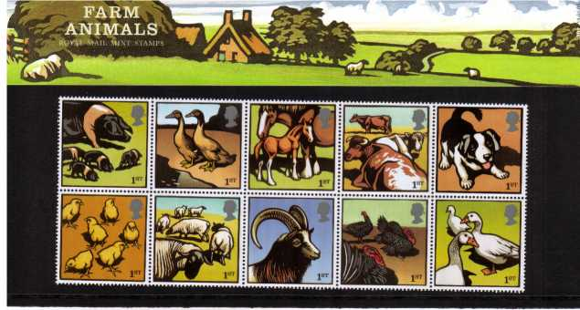 Stamp Image: view larger back view image for Farm Animals<br/><br/>