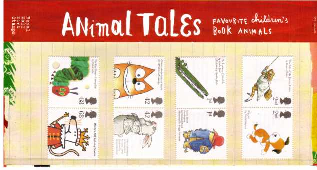 Stamp Image: view larger back view image for Animal Tales<br/><br/>