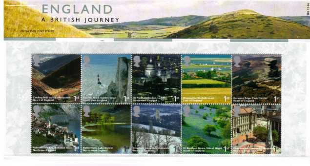 Stamp Image: view larger back view image for A British Journey - England<br/><br/>