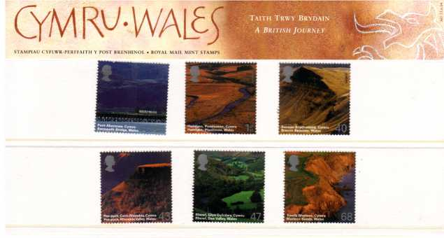 Stamp Image: view larger back view image for A British Journey - Wales<br/><br/>