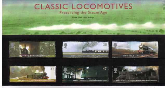 Stamp Image: view larger back view image for Classic Locomotives<br/><br/>