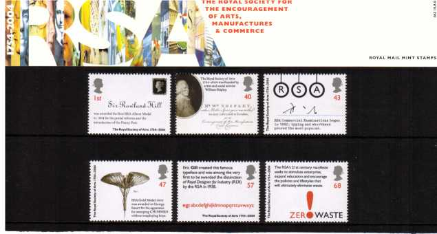 Stamp Image: view larger back view image for Royal Society of Arts<br/><br/>