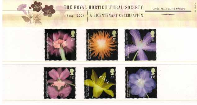 Stamp Image: view larger back view image for Royal Horticultural Society<br/><br/>