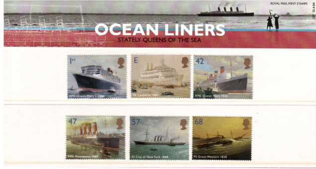 Stamp Image: view larger back view image for Ocean Liners<br/><br/>