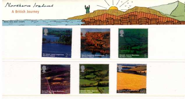 Stamp Image: view larger back view image for A British Journey - Northern Ireland<br/><br/>
