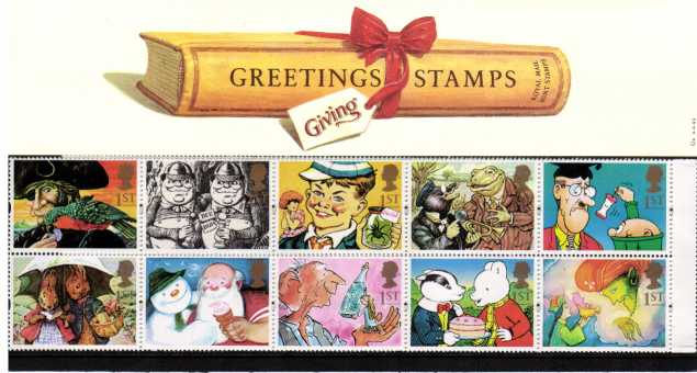 Stamp Image: view larger back view image for Greetings Stamps  - Gift Giving