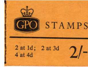 British Stamps QE II Stitched Pre Decimal Booklets Item: view larger image for SG N21 (1965) - 2/- Booklet <br/>Dated July 1965<br/><b>QJK</b>