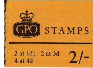 British Stamps QE II Stitched Pre Decimal Booklets Item: view larger image for SG N32p (1968) - 2/- Booklet<br/>PHOSPHOR - Dated March 1968<br/><b>QJK</b>