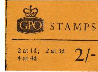 British Stamps QE II Stitched Pre Decimal Booklets Item: view larger image for SG NP27 (1968) - 2/- Booklet<br/>Dated May 1968<br/><b>QJK</b>