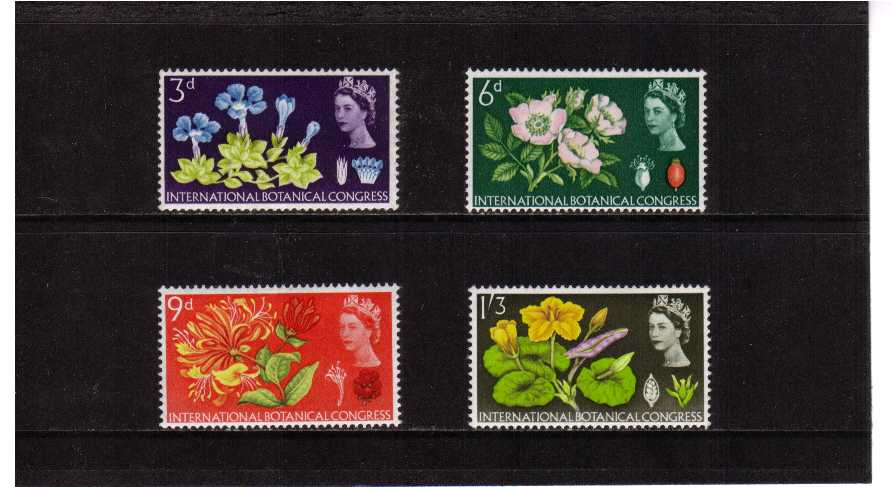 view larger image for SG 655p-658p (1964) - Botanical Congress PHOSPHOR set of four