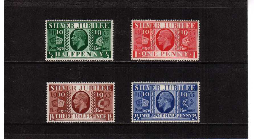 view larger image for SG 453-456 (1935) - Silver Jubilee set of four