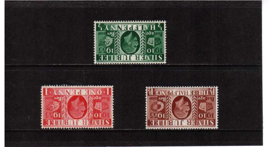 view larger image for SG 453Wi-455Wi (1935) - Silver Jubilee<br/>INVERTED WATERMARK set of three