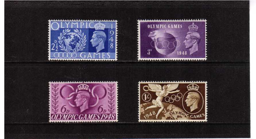 view larger image for SG 495-498 (1948) - Olympic Games set of four