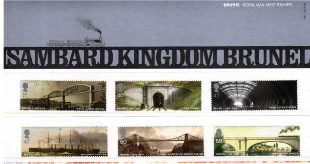 Stamp Image: view larger back view image for Isambard Kingdom Brunel<br/><br/>