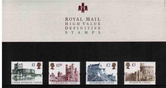 Stamp Image: view larger back view image for CASTLES - �1 - �5