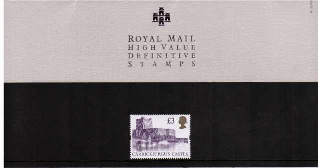 Stamp Image: view larger back view image for CASTLE - �3<br/><br/>