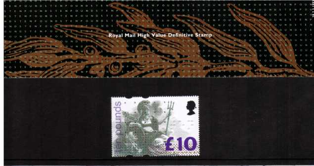 Stamp Image: view larger back view image for �10 Britannia<br/><br/>