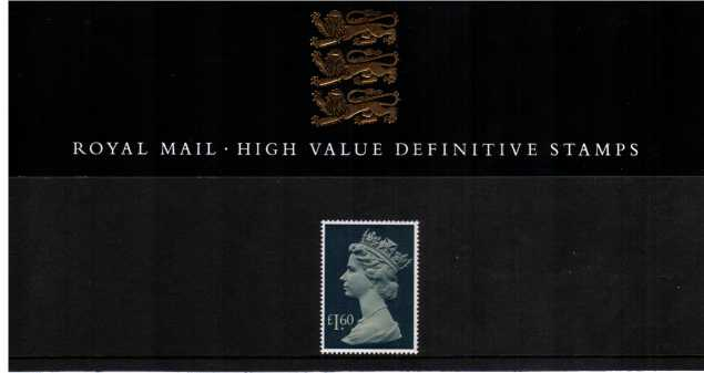 Stamp Image: view larger back view image for �1.60 Large Machin Head<br/><br/>