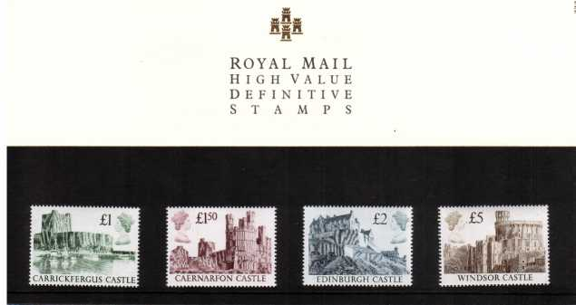 Stamp Image: view larger back view image for Castle High Values �1-�5<br/><br/>