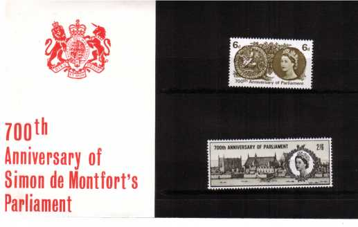 Stamp Image: view larger back view image for 700th Anniversary of Parliament