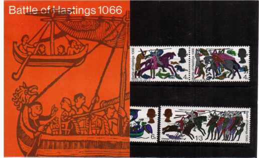 Stamp Image: view larger back view image for Battle of Hastings
