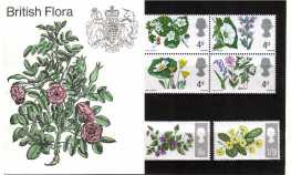 Stamp Image: view larger back view image for British Flowers - Ordinary