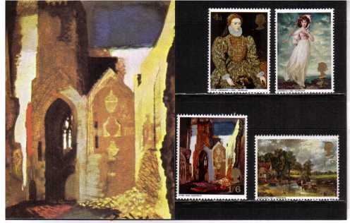 Stamp Image: view larger back view image for British Paintings - GERMAN