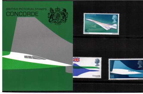 Stamp Image: view larger back view image for First Flight of Concorde
