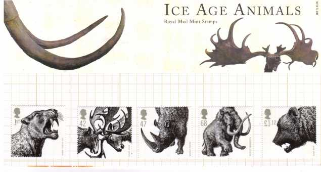 Stamp Image: view larger back view image for Ice Age Animals<br/><br/>