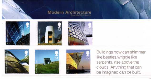 Stamp Image: view larger back view image for Modern Architecture<br/><br/>