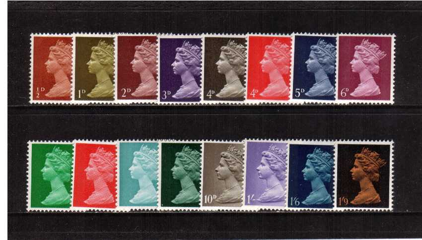 view larger image for SG 723-744 (1967) - Elizabeth II <br/>