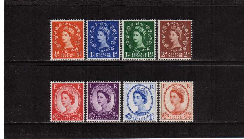 view larger image for SG 587-594 (1958) - Elizabeth II <br/>