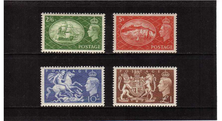 view larger image for SG 509-512 (1951) - George 6th<br/>'Festivals'  High values set of four