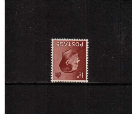 view larger image for SG 459Wi (1936) - 1�d Chestnut with WATERMARK INVERTED