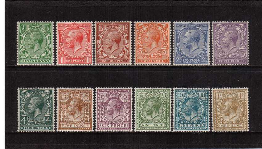 view larger image for SG 418-429 (1924) - George 5th<br/>Block Watermark set of twelve