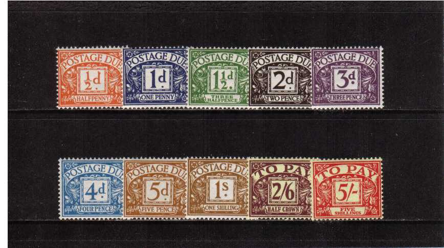 view larger image for SG D46-D55 (1955) - Edward Crown watermark set of ten superb unmounted mint. SG Cat �425