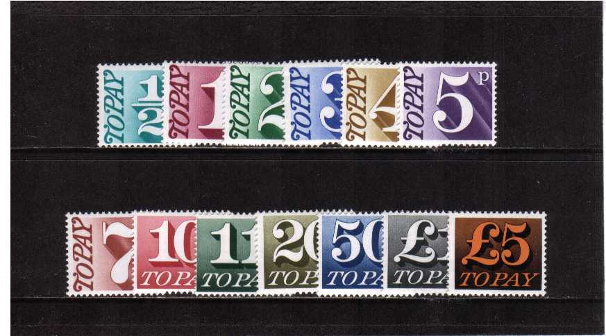 view larger image for SG D77-D89 (1970) - Postage Due set of thirteen