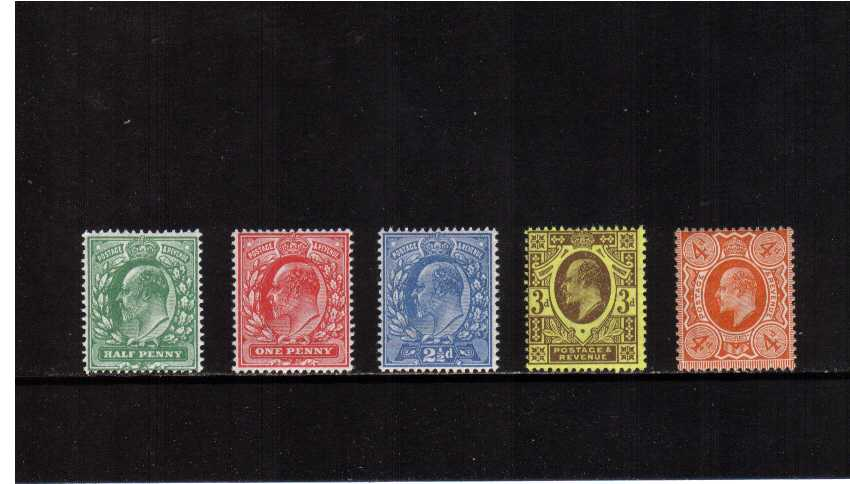 view larger image for SG 279-286 (1911) - Edward 7th<br/>Perforation 15x14 set of five