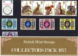 view larger image for SG CP1049b (1977) - Collectors Year Pack<br/>SG Cat �9.00