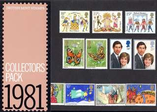 view larger image for SG CP1174a (1981) - Collectors Year Pack<br/>SG Cat �19