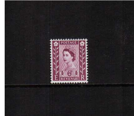 view larger image for SG NI3 (1958) - 6d Deep Claret