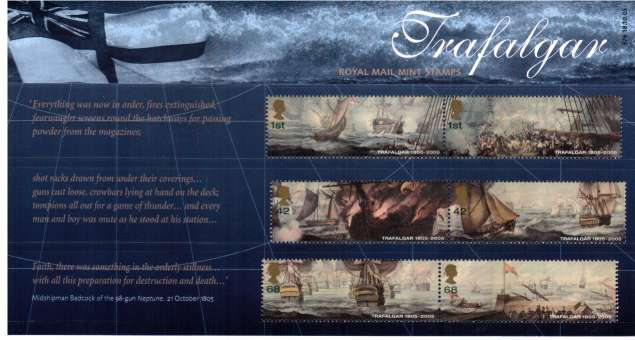 Stamp Image: view larger back view image for Bicentenary of Battle of Trafalgar<br/><br/>
