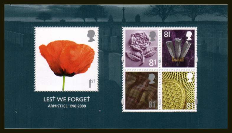 view larger image for SG MS2886 (6 Nov 2008) - Lest We Forget' - 3rd Issue minisheet