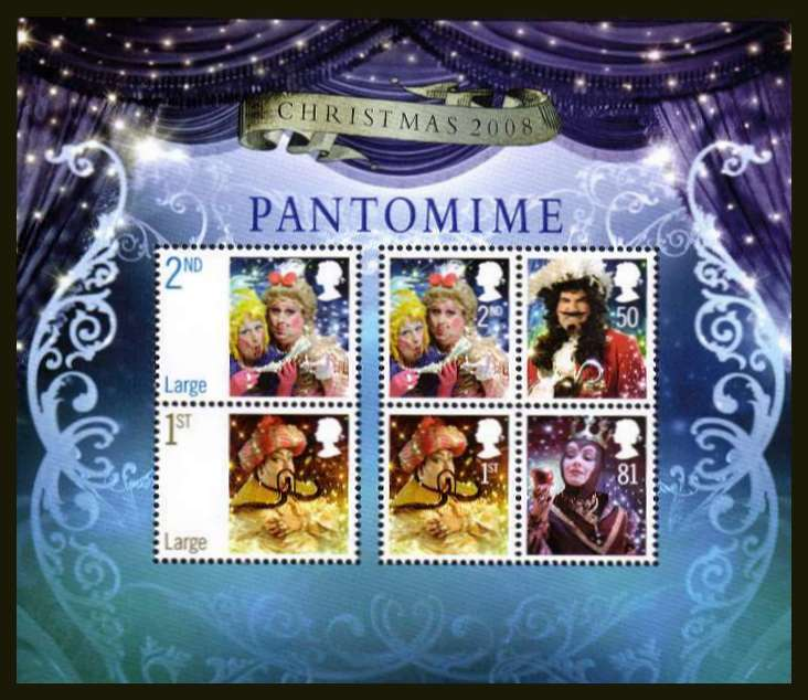 view larger image for SG MS2882 (4 Nov 2008) - Christmas - Pantomime minisheet
