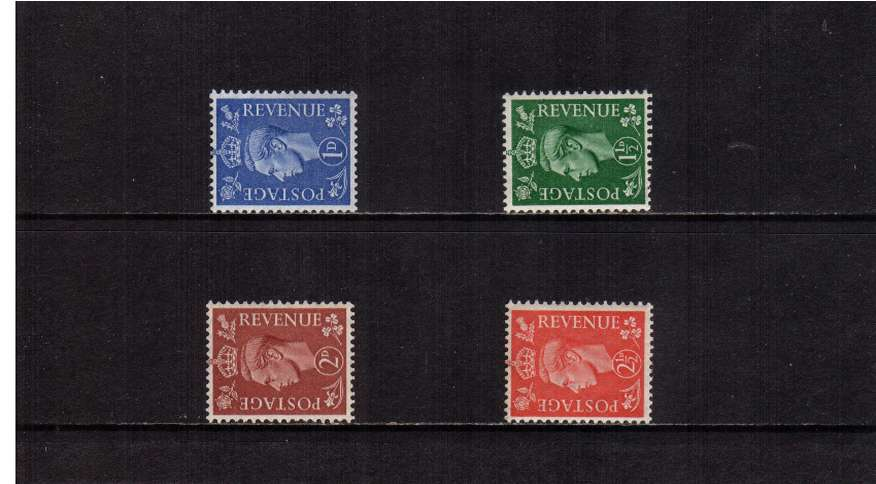 view larger image for SG 504a-507a (1951) - George 6th<br/>